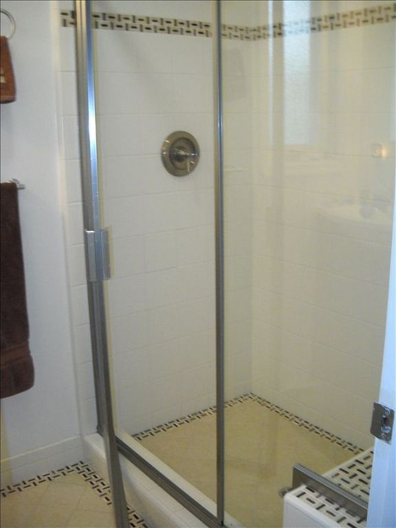 Bathroom with Shower -- shower has bench