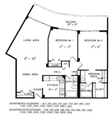 South Seas Club condo photo - Floor Plan approx. 1100 sq.ft. under Air