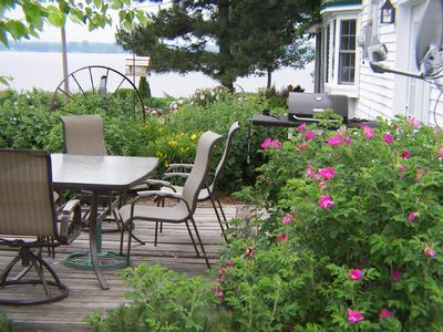 Isle La Motte farmhouse rental - Deck with Gas Grill