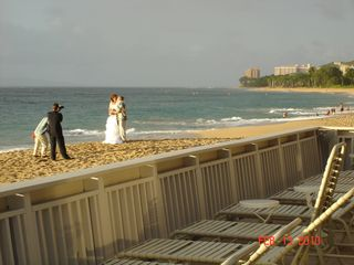 Kaanapali condo photo - A Beachfront Wedding at Sunset in Front of the Cabana.