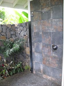 Relax and refresh in our completely private outdoor shower!