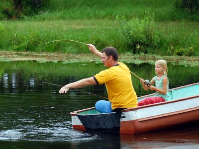 Fishing and boating off of your private dock