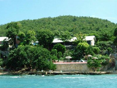 Perched on a Cliff cascading down to The Caribbean with its own private beach