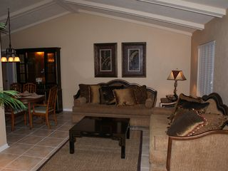 Vacation Homes in Marco Island house photo - Living Room - Beautifully decorated & comfortable.