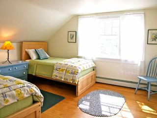 Annapolis Valley house photo - A second bedroom with two twin beds, new mattresses and coverlets.