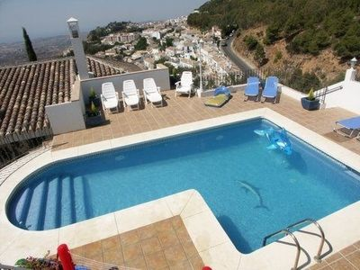Pool with view of Mijas Pueblo