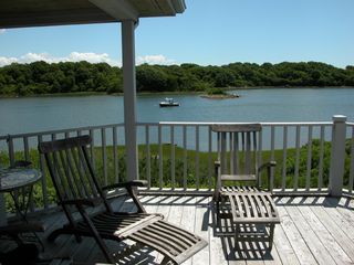 Narragansett estate photo - Upstairs deck looking east