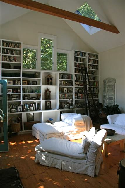 Lofty living room bookcases