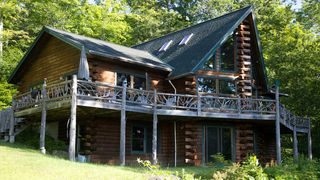 Panoramic mountain views from this private homeaway for Keene valley cabin rentals