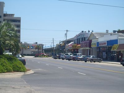 View of Shops on the Way to the Beach, just steps away