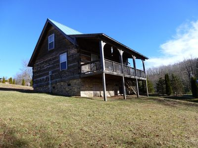 'GREAT SCENERY' VERY QUIET, PRIVATE & PEACEFUL! HAND HEWN HEMLOCK LOG CABIN.