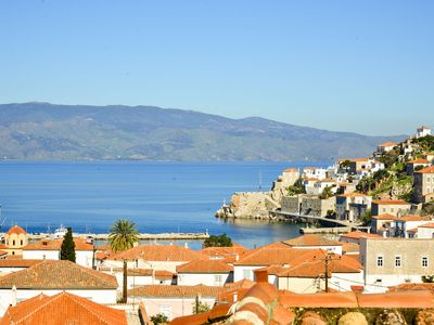 See Hydra town Panoramic sea view