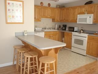Mountain City townhome photo - Fully-equipped kitchen with dish washer, microwave, and, breakfast bar.