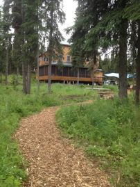 Sterling house rental - Kenai River Paradise - View of Cabin from River