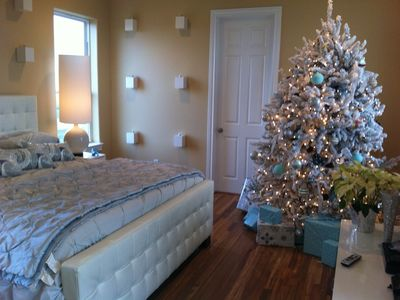 For the holidays, the home is decorated impeccably with 4 trees (Thanksg - NYE)