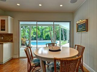 Delray Beach house photo - Kitchen Dining Area overlooking Tropical Pool Courtyard