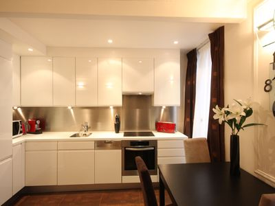 Fully equipped modern kitchen with dishwasher