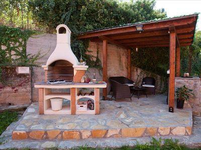 The new barbecue area at Villa Nuba  vacation rental in Umbria Perugia -