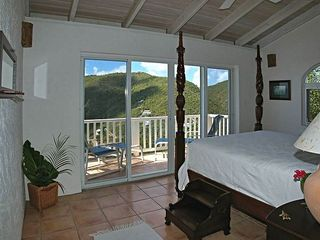 Fish Bay villa photo - SEA TURTLE VILLA Master Bedroom w/ Deck