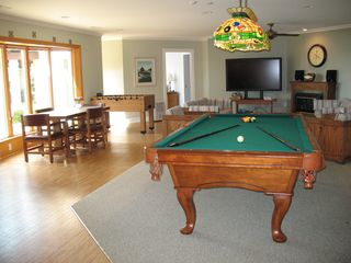 Lower Level Family Room w/ pool table, big screen, foosball - Lake Anna house vacation rental photo