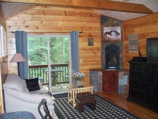Ellijay cabin photo - Upper Master Suite Sitting Area