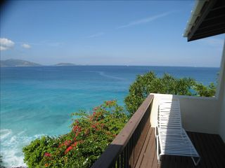 Tortola villa photo - Balcony from bedroom