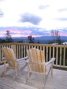 Great sunset views from the back deck