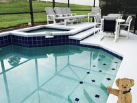 Enjoy the private salt water pool & spa at the end of a fun day.
