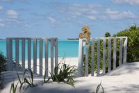 Just steps from villa to beach! What a great location!