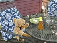 Breakfast in the garden patio