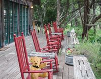 Rock your cares away while taking in the Cypress Creek beauty.
