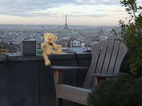 I love the wonderful view of Paris from the terrace!