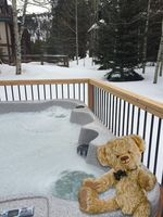 Enjoy the hot tub after a day of skiing!