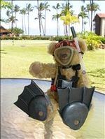 The Bear getting ready to dive Molokini Crater off the Maui coast!
