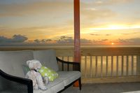 Enjoy the ocean breeze as the sun sets!