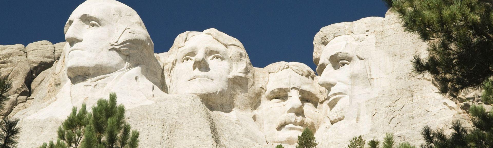 Mount Rushmore (sculpture en granit), Keystone, Dakota du Sud, États-Unis d'Amérique