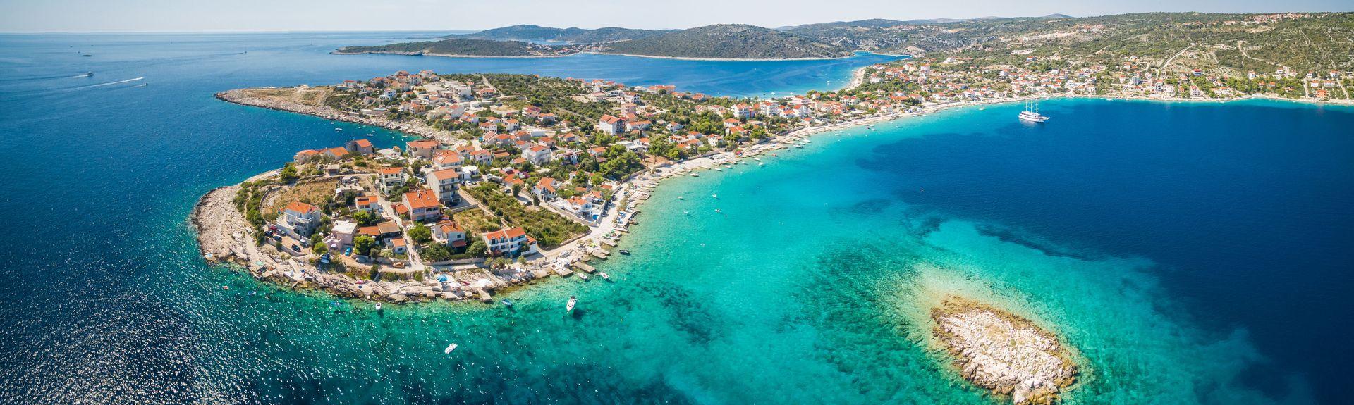 Primosten-stranden, Primosten, Šibenik-Knin, Kroatia