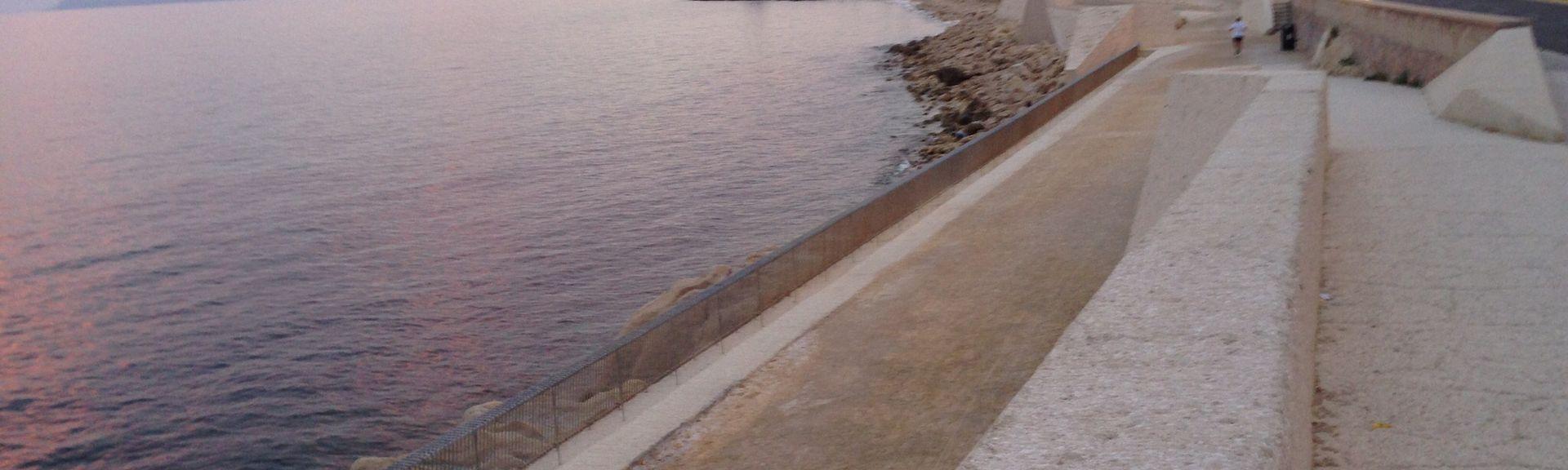 Spiaggia di Albufereta, Alicante, Comunità Valenzana, Spagna