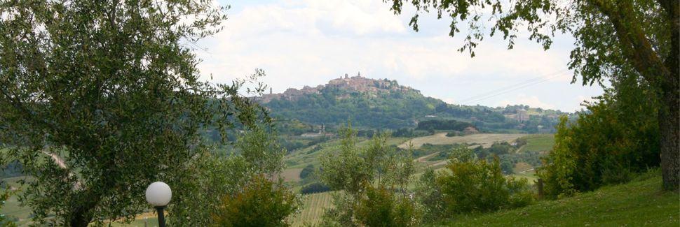 San Quirico d'Orcia, Toskana, Italien