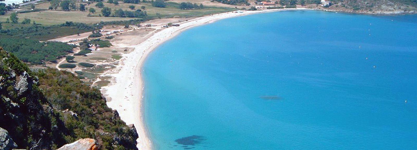 Strand von L'Ile Rousse, L'Ile-Rousse, Korsika, Frankreich