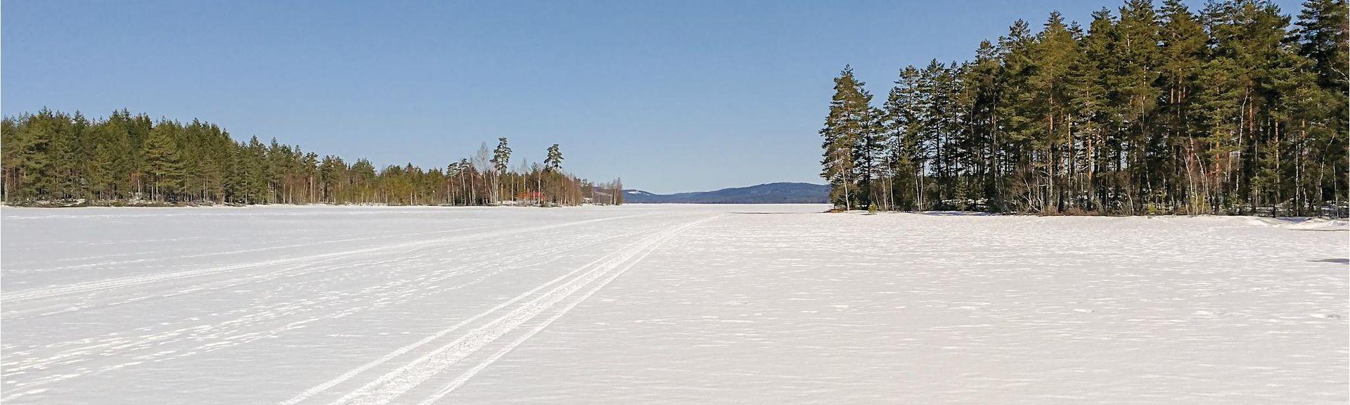 VASTRA AMTERVIK (Gare), Västra Ämtervik, Comté de Värmland, Suède