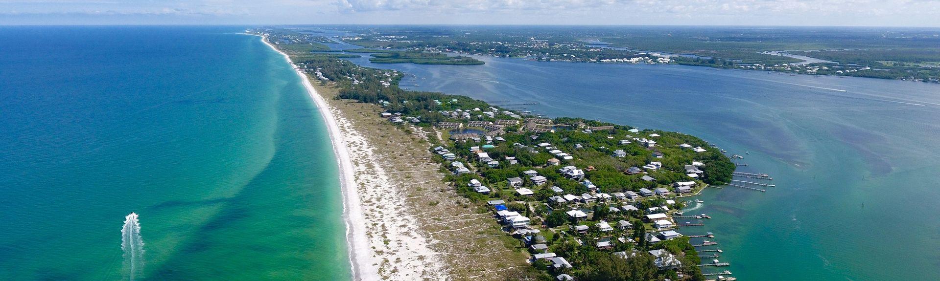 Parc sur la plage de Port Charlotte, Port Charlotte, Floride, États-Unis d'Amérique