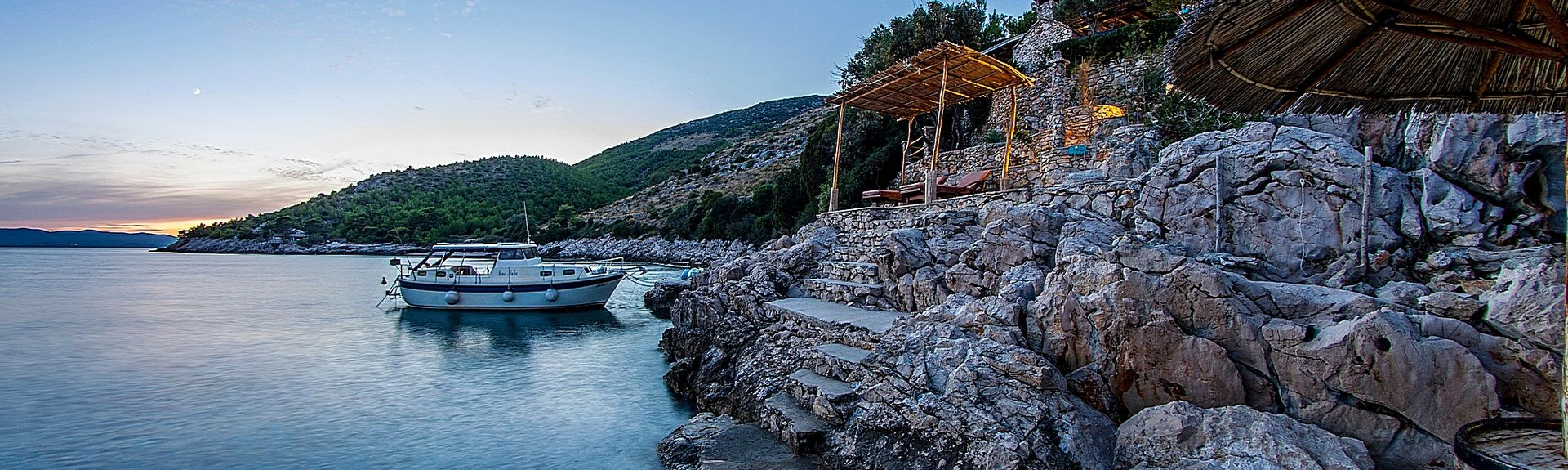 Strand van Makarska, Makarska, Split-Dalmatië, Kroatië