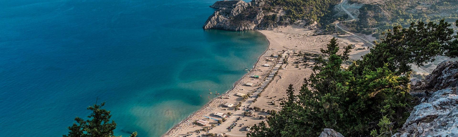 Vlycha Beach, Rhodes, South Aegean, Greece