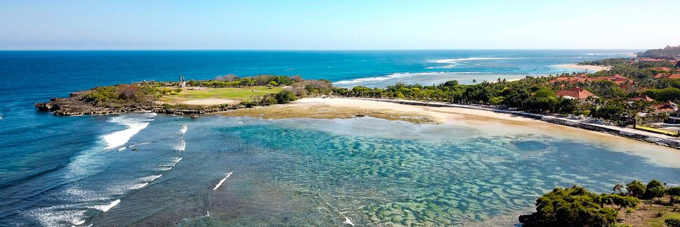 Nusa Dua strand, Bali, Indonesien