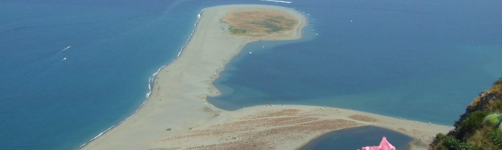 Réserve naturelle des lacs de Marinello, Patti, Sicile, Italie