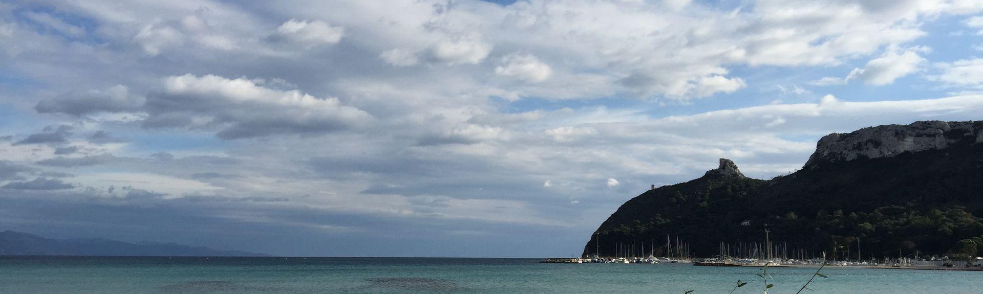 Marina District, Cagliari, Sardinien, Italien