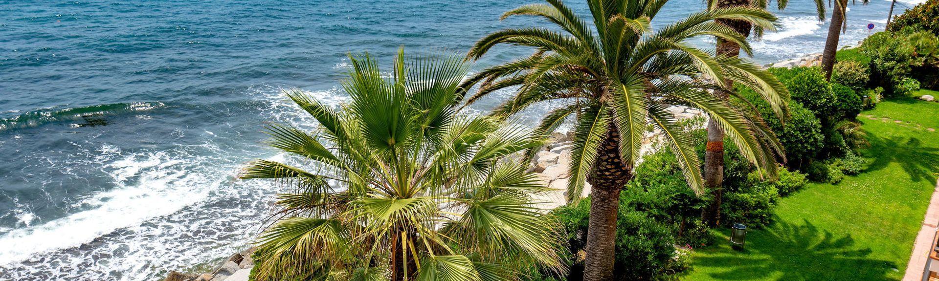 Calella Strand, Calella, Catalonien, Spanien