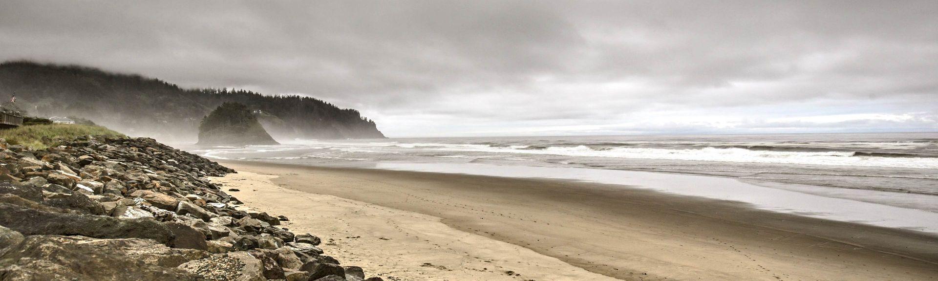 Stanowy teren rekreacyjny Fogarty Creek, Depoe Bay, Oregon, Stany Zjednoczone