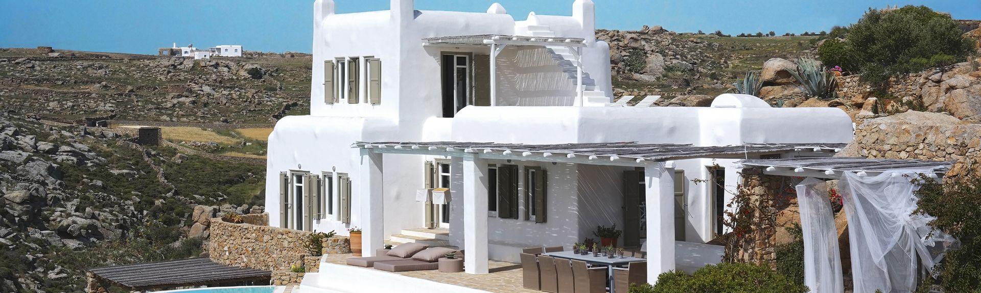 Playa de Platis Gialos, Míkonos, Periferia de Egeo Meridional, Grecia
